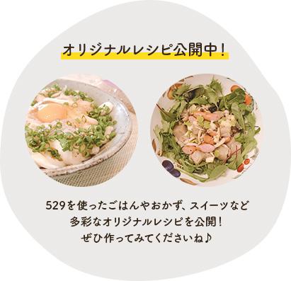 オリジナルレシピ公開中!
